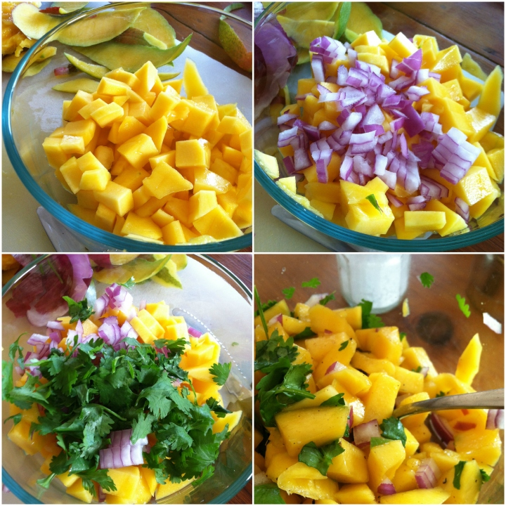 mango salsa collage